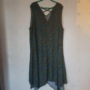 AVA & VIV rayon floral print dress